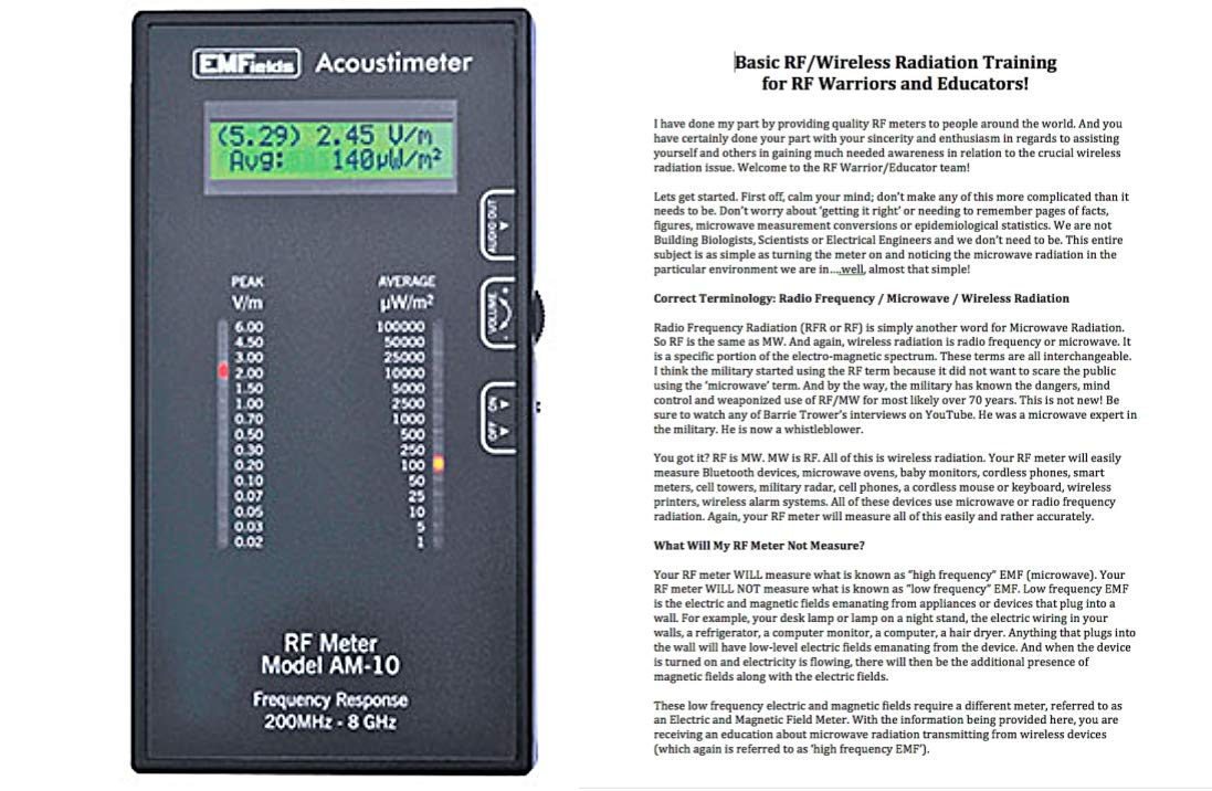 Acoustimeter AM-10 Microwave Meter + Free 11-Page Training Document and Reference Notes