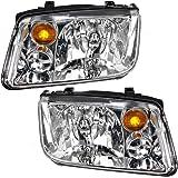 Halogen Combination Headlights Headlamp Pair Set Replacements for 02-05 Volkswagen Jetta VW Generation 4 1J5941017BJ…