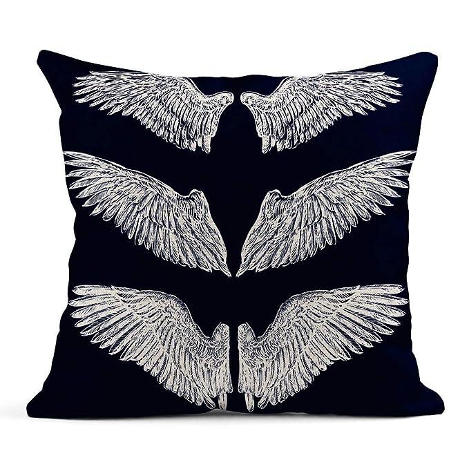 Kinhevao Cojín Alas de ángel Águila Vintage Tatuaje de pájaro ...