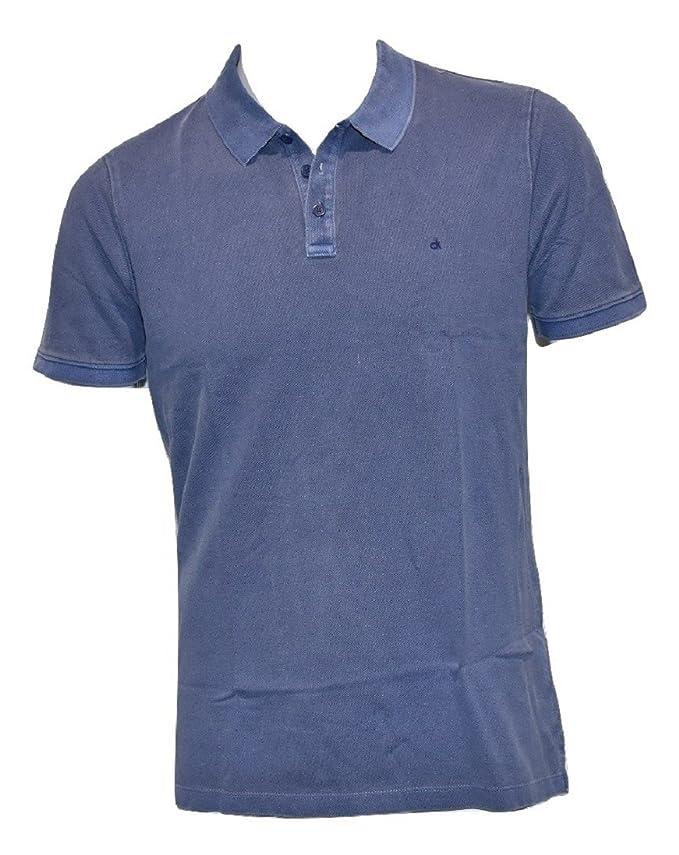 Calvin Klein Jeans - Polo - para Hombre Blue Depths Large: Amazon ...