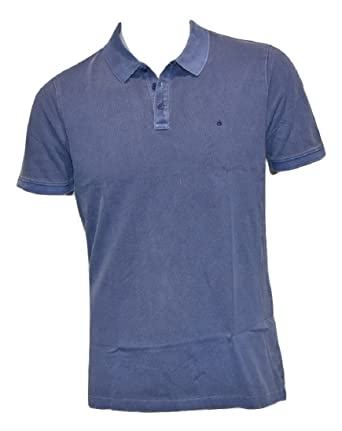 Calvin Klein Jeans - Polo - para Hombre Blue Depths Large: Amazon ...