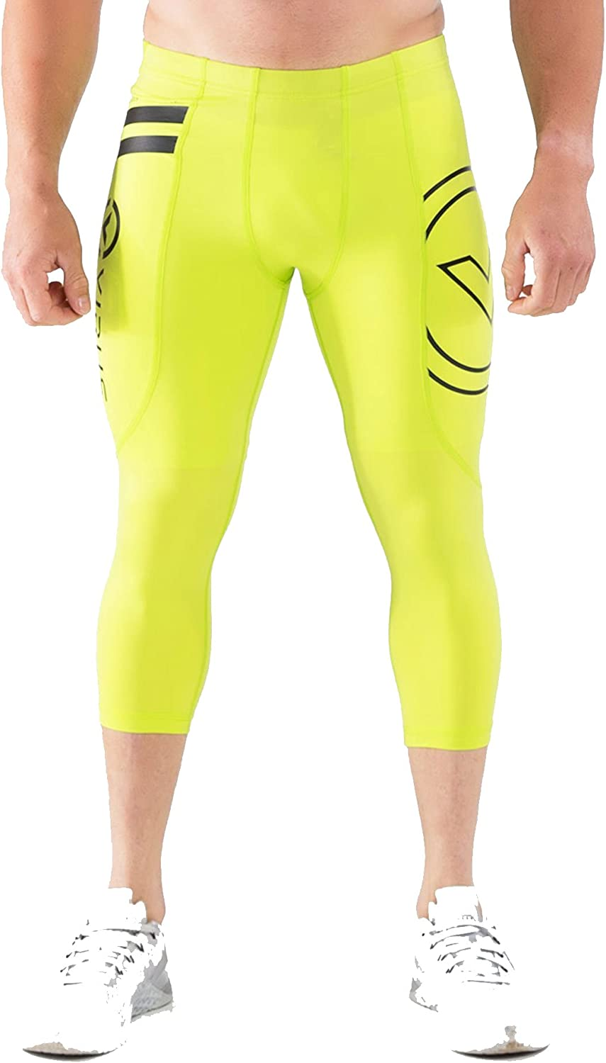 Virus RX5 Stay Cool Compression Boot Cut 3//4 Length Crossfit Pants Lime Punch