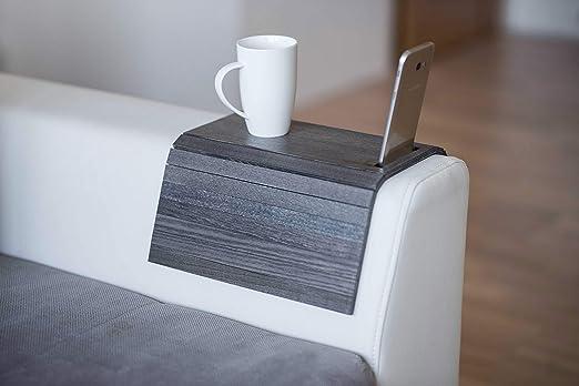 Bandeja de madera para sofá con protectores de reposabrazos, sofá ...