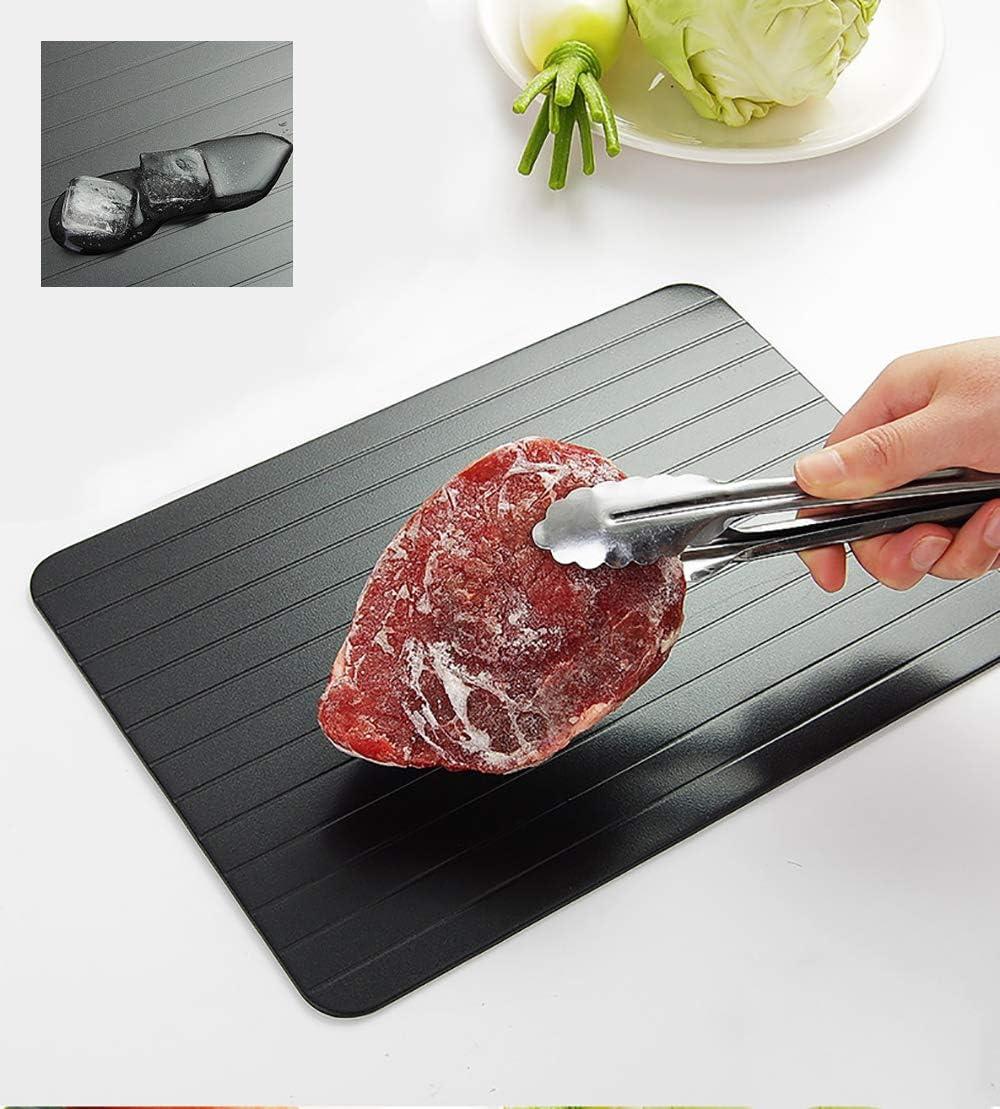 Aluminio de metal Comida r/ápida segura descongelaci/ón de carne Bandeja de descongelaci/ón Placa Bandeja de descongelaci/ón r/ápida Bandeja de descongelaci/ón de carne para alimentos congelados