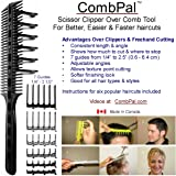 CombPal Scissor Clipper Over Comb Hair Cutting Tool Barber Haircutting Comb Set (Classic Set, Gray)