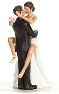 Wedding Collectibles Funny Sexy African American Cake Topper With Bride And Groom
