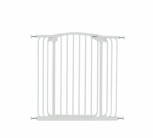 Amazon.com : Bindaboo Hallway Pet Gate, Swing Closed, White, Extra ...