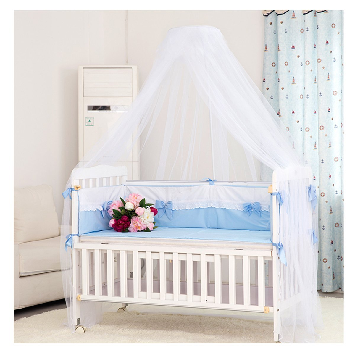 Amazon.com  Mosquito Net - Foxnovo Toddler Bed Crib Canopy Mosquito Netting (White)  Baby  sc 1 st  Amazon.com & Amazon.com : Mosquito Net - Foxnovo Toddler Bed Crib Canopy ...