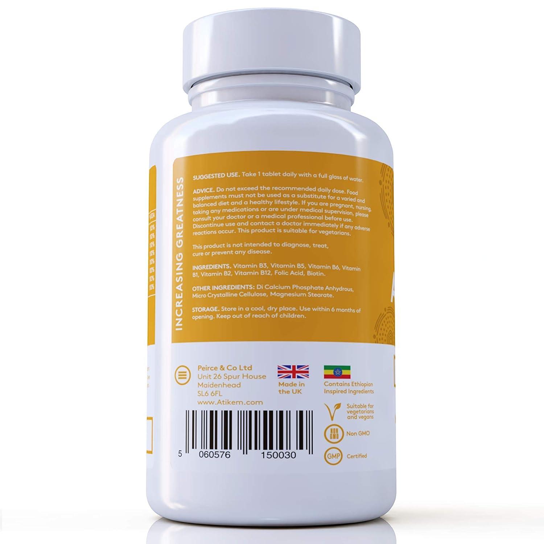Vitamina B Complex 120 Tabletas - Las 8 vitaminas B Biotina, B1, B2, B3, B5, B6, B9 y B12 (4 meses de suministro): Amazon.es: Salud y cuidado personal