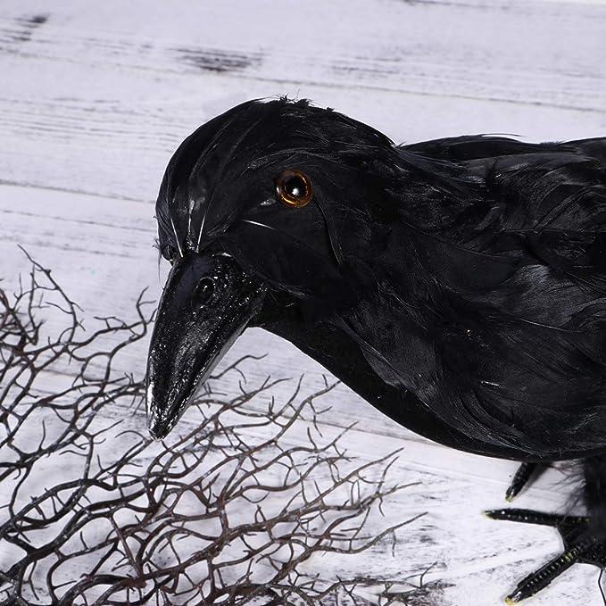 Happyyami 2 Piezas de Cuervos con Plumas Negras de Halloween ...