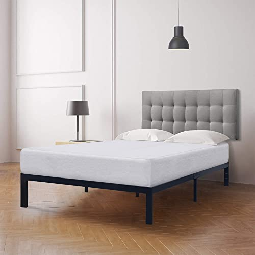 Best Price Mattress 10 inch Memory Foam Mattress and Model E Heavy Duty Steel Slats Platform Bed Frame Set