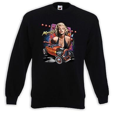 Rockabilly Sweater Marilyn Hot Rod Pinup Vintage Hollywood V8:  Amazon.co.uk: Clothing
