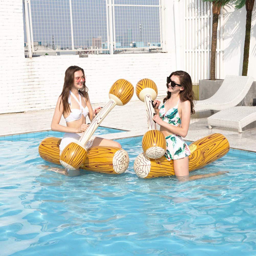 TOPINCN Juguete Flotante Inflable Flotador Ride-On Filas Juego de ...