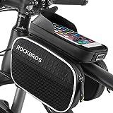 BTNEEU Borsa Telaio Bici, Borsa Bicicletta Impermeabile, MTB BMX Borse con TPU Touch-Screen ad Alta Sensibilit per iPhone Samsung LG Nexus Telefono Smartphone Fino a 6.2 Pollici Accessori Bici (Nero)