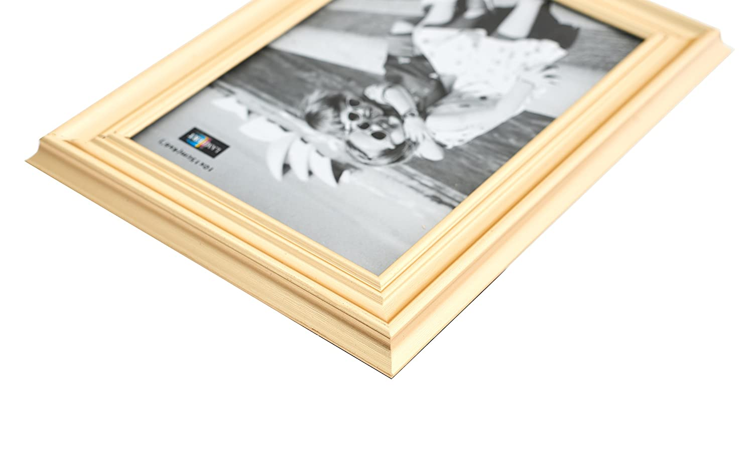 Amazon.com - Plated Gold Picture Frames (6 pc) Display with Photo ...