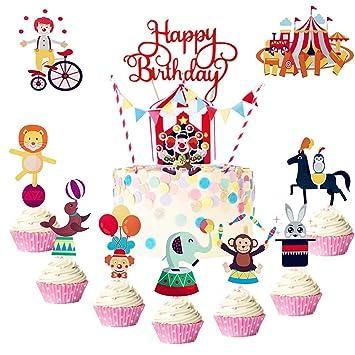 Amazon.com: LaVenty - Juego de 35 decoraciones para cupcakes ...