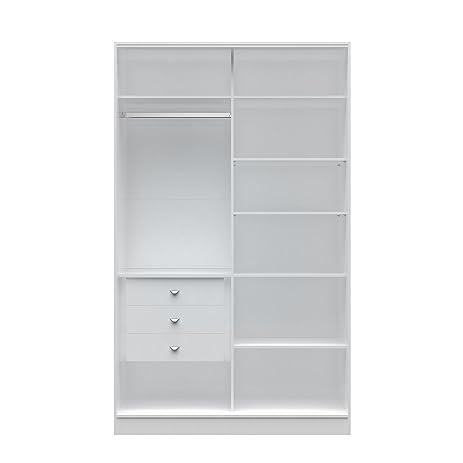 Manhattan Comfort Chelsea Full Wardrobe 1.0 Armoire Wardrobe Closet With 3  Drawers, 54.33u0026quot; W