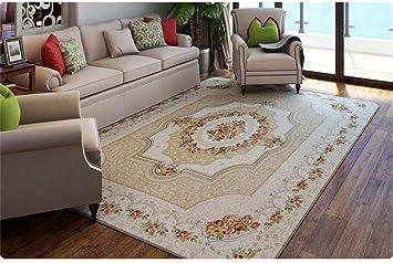 Amazon.de: Europäische Stil Rosen Teppich Wohnzimmer Bereich ...