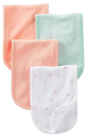 26ba5e3ace42 Amazon.com  Carter s Burp Cloth - Mint Peach Balloon - 4 ct  Baby