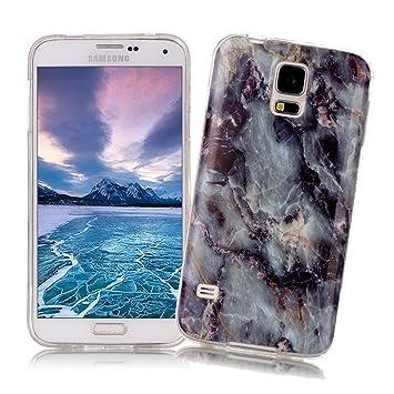 XiaoXiMi Funda Samsung Galaxy S5 con Textura de Mármol Carcasa de Silicona Slim Soft TPU Silicone Case Cover Funda Protectora Carcasa Delgado Ligero ...