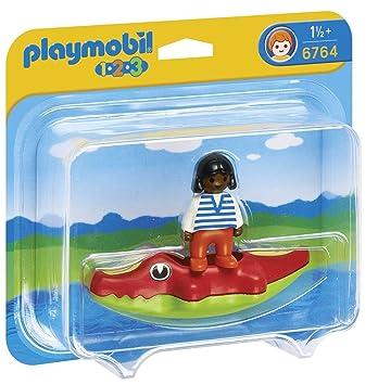 Playmobil 626187 - 1.2.3Niña Colchoneta Cocodrilo: Amazon.es ...