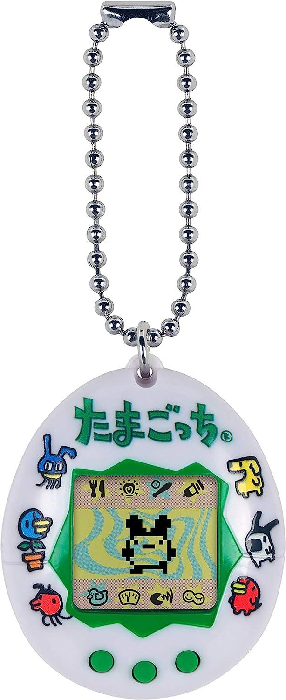 Tamagotchi Friends- Logotipo japonés Original de Tamagotchi - Alimentación, Cuidado, nutrición - Mascota Virtual con Cadena para Jugar sobre la Marcha, Color (Bandai 42816)