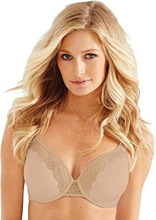 d0f12f0c60742 Image Unavailable. Image not available for. Color  Bali One Smooth U Ultra  Light Lift with Lace Underwire Bra ...