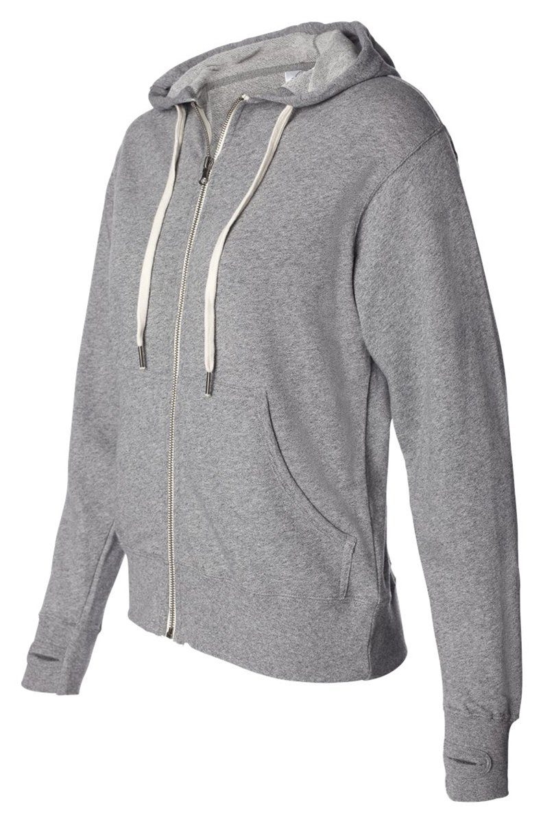 French Terry Heathered Sweatshirt, Color: Salt & Pepper, Size: XX-Large