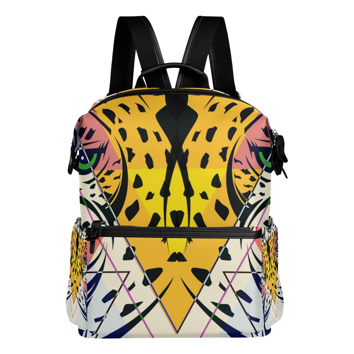 COOSUN Fashion Leopard Head School Rucksack Sac à Dos Voyage Multi