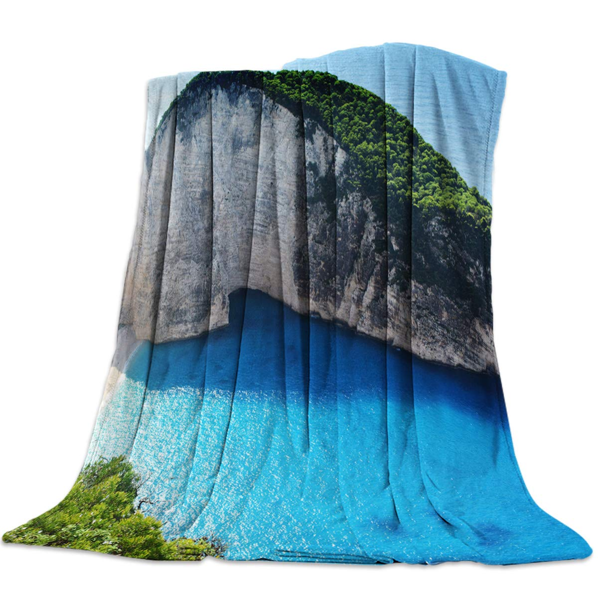 Landscape117yag3847 39x49inch=100x125cm YEHO Art Gallery 39x49 Inch Flannel Fleece Bed Blanket Soft Throw-Blankets for Girls Boys,Beautiful Landscape of Navagio,Cozy Lightweight Blankets for Bedroom Living Room Sofa Couch