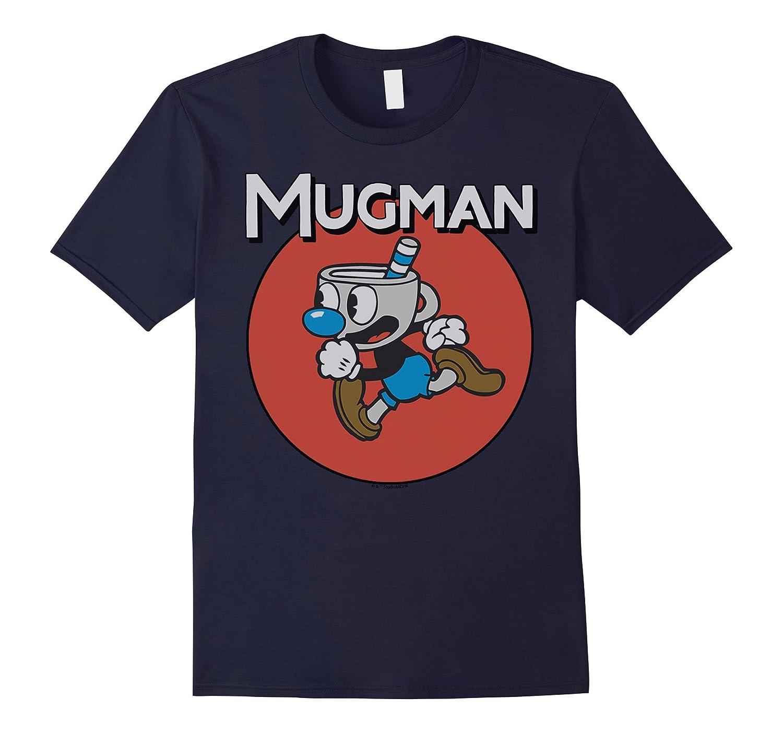 Cuphead Mugman Run Left Circle Portrait Graphic T-Shirt-FL