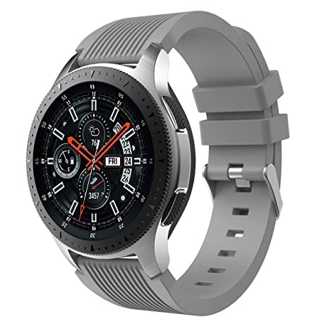 XIHAMA Correa Compatible con Samsung Galaxy Watch 46mm, Recambio de Silicona Bracelet Compatible con Smartwatch Samsung Galaxy Watch 46mm (46mm, Gris)