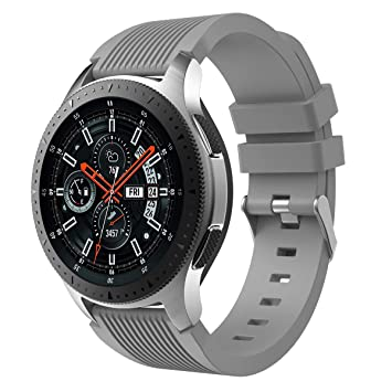 XIHAMA Correa Compatible con Samsung Galaxy Watch 46mm, Recambio de Silicona Bracelet Compatible con Smartwatch Samsung Galaxy Watch 46mm (46mm, Gris)