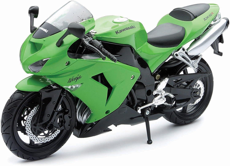 NewRay 1/12 Die-Cast Motorcycle: Kawasaki 2006 ZX-10R Ninja (Green)