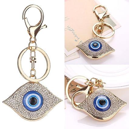 YiFeiCT® - Llavero con Colgante de Ojo Turco Azul con Amuleto, Bolso de Mano, Llavero, Regalo