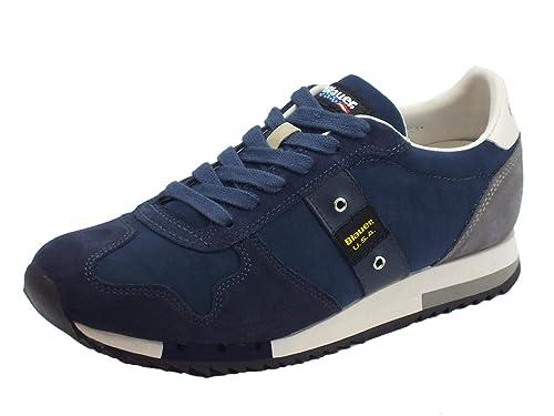 Blauer USA - Zapatillas de Cuero para Hombre Azul Size: 46 ...