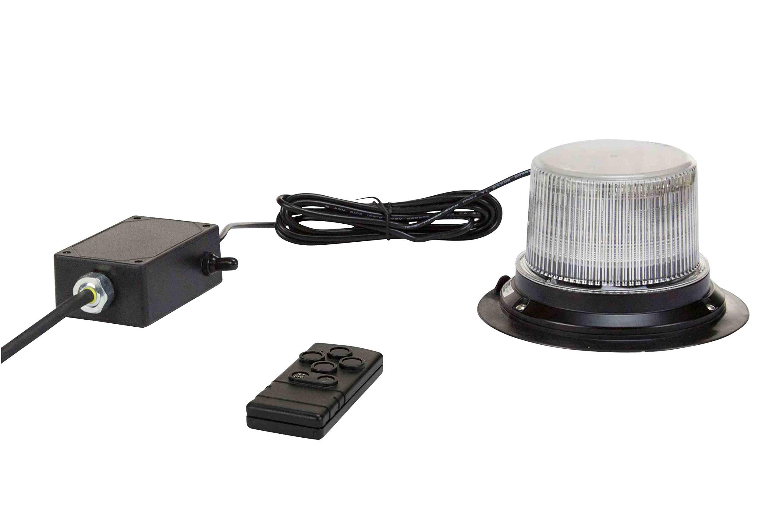 Class 1 LED Beacon with 30 Strobe Light Patterns - Wireless Remote - Surface Mount