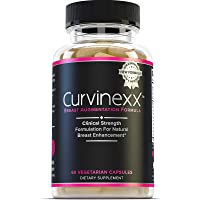 Curvinexx: The Ultimate Natural Breast Growth and Enhancement Pills | Enlargement Supplement to Boost Your Confidence and Your Curves | with Fenugreek, Blessed Thistle, Dong Quai & Wild Yam, 60 Caps