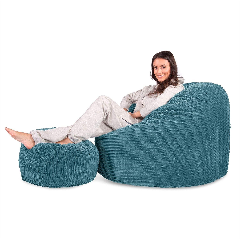 Lounge Pug Türkis Riesen Sitzsack C500 L Cloudsac Latexflocken