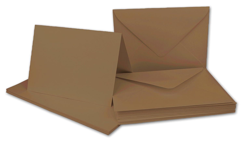 Faltkarten Set mit Brief-Umschlägen DIN A6   C6 in Rosanrot   100 Sets   14,8 x 10,5 cm   Premium Qualität   Serie FarbenFroh® B07B2X5DZF | Luxus
