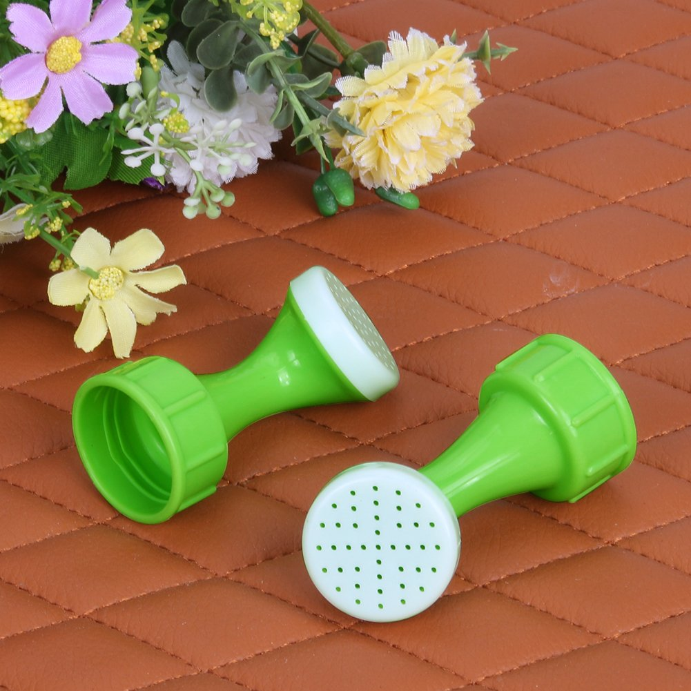 demiawaking 2 pcs Tops de riego para botellas de plástico, jefe de rociadores regadera riego botella Tops hogar herramienta de riego para plantas en macetas ...