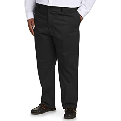 Essentials Men's Big & Tall Relaxed-fit Wrinkle-Resistant Flat-Front Chino Pant fit by DXL: Clothing