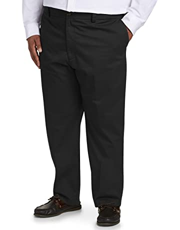 8a668f22f1ae Amazon Essentials Men's Big & Tall Relaxed-fit Wrinkle-Resistant Flat-Front  Chino
