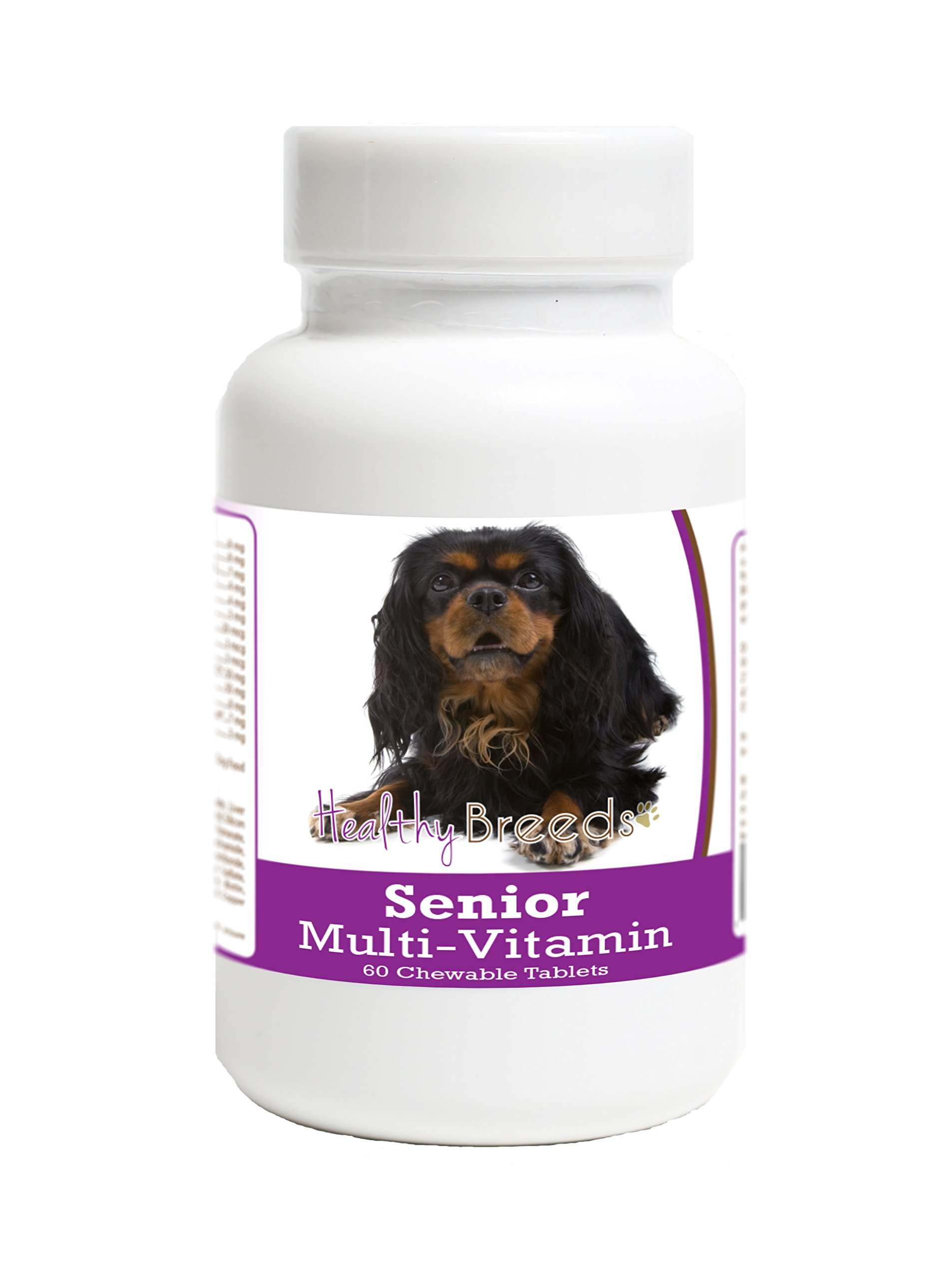 Healthy Breeds Senior Dog Supplement for English Toy Spaniel - Over 200 Breeds - Veterinarian Formulated Daily Dietary Chewable Tablet - 60 Chews by Healthy Breeds (Image #1)