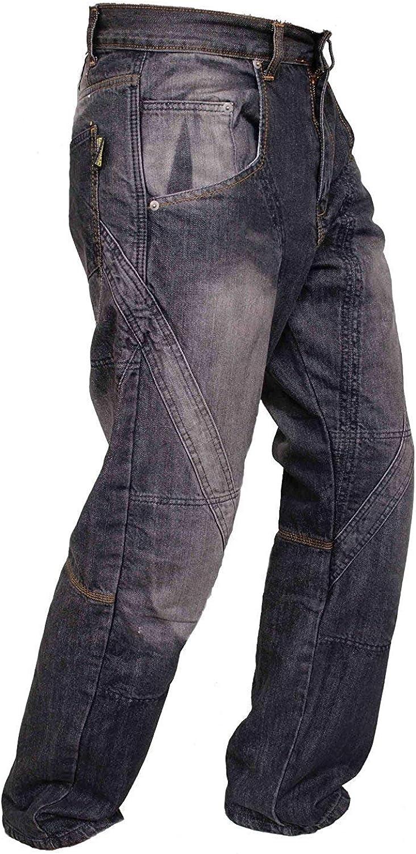 Qaswa Herren Motorradhose Cargohose Motorrad Jeans Motorrad R/üstung Schutzauskleidung Motorcycle Biker Trousers