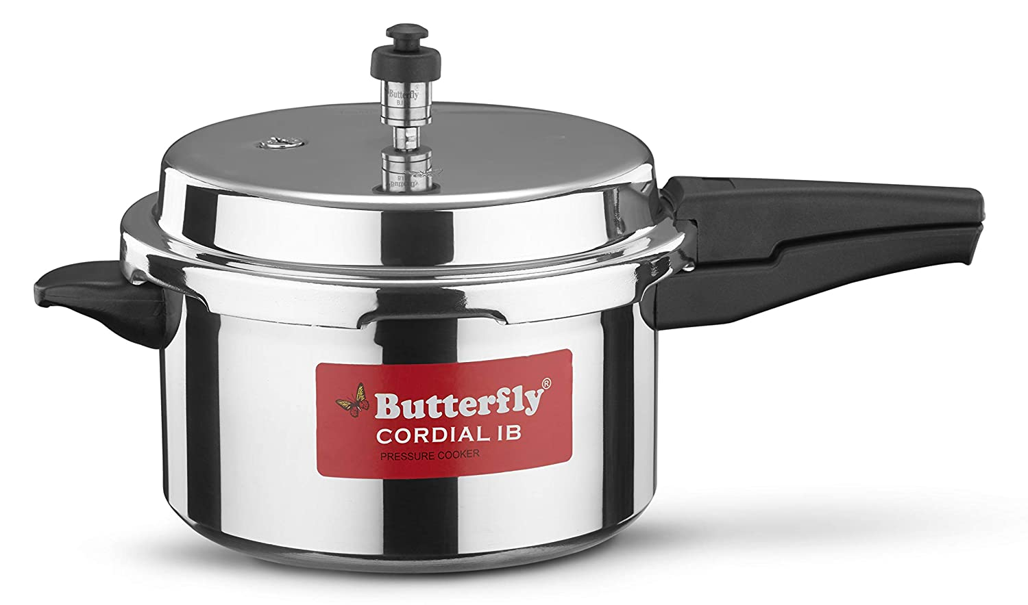 Butterfly Cordial Induction Base Aluminium Pressure Cooker, 5 litres, Silver at Amazon