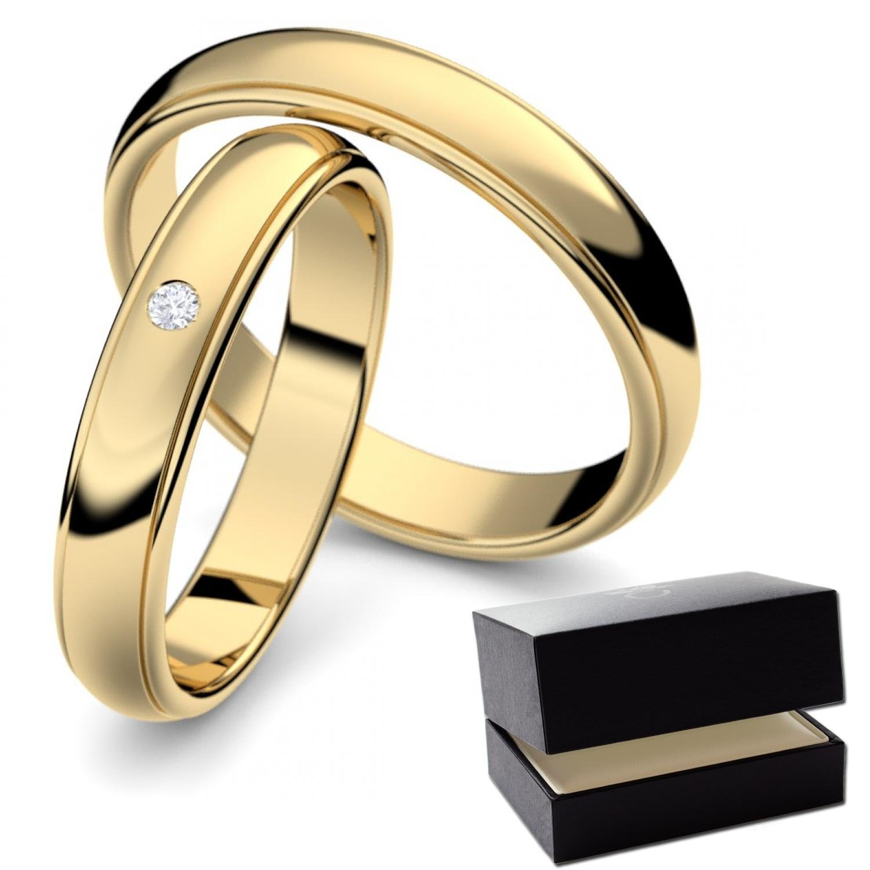 Eheringe Set GRATIS GRAVUR & LUXUSETUI Eheringe Gold Paarpreis
