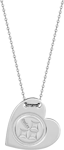 Sterling Silver Sterling Silver Rhodium Plated Pittsburgh Steelers Small Pendant