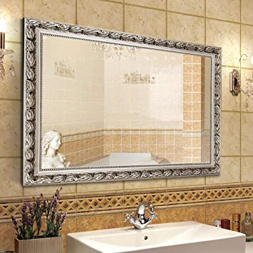 Large Wall Mirror By Hansu0026Alice 32u201dx24u201d Baroque Framed Mirror Perfect As A  Bathroom