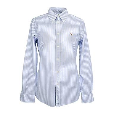 Chemise Ralph Lauren Harper rayée bleu et blanche pour femme  Amazon.fr   Vêtements et accessoires e645bc97609